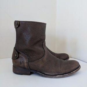 Frye Melissa Button Zip Short Boot / 6.5